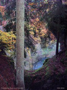 Blick von der Riesenburg ins Wiesenttal, Fränkische Schweiz, Bayern, Deutschland