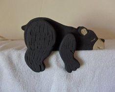 Handmade Wooden Toys, Wooden Diy, Wood Yard Art, Bear Decor, Moose Decor, Wooden Alphabet, Wood Animal, Small Wood Projects, Christmas Wood