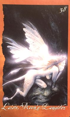 Laiste, Moon's Daughter, from the Faeries' Oracle by Brian Froud and Jessica MacBeth