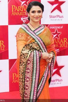 Supriya Pilgaonkar during Star Parivaar Awards 2012 held at Andheri Sports Complex in Mumbai on March 9, 2012.Find Similar Exclusive Laces and fabrics @ www.lacxo.com