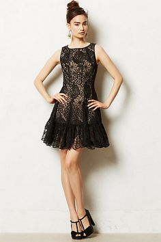 Love this dress with flirty hemline and lace in my fave black (Vendome Dress)