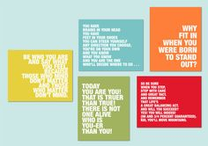 Dr. Seuss Quotes - set of five - great for a nursery or playroom - available in any colors