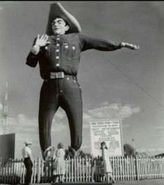 Big Tex at the State Fair of Texas in the 1960's.