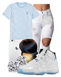 """""""Loni"""" by honey-cocaine1972 ❤ liked on Polyvore featuring Ralph Lauren, Identity, Blue Nile, Retrò and Topshop"""