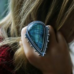 The Dimensional Mirror  Labradorite Sterling by MercuryOrchid