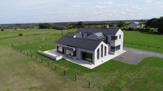 Simon Beale + Associates are delighted to have designed and acted as Assigned Certifier for the construction of this recently completed family home and garage outside Tuam. The design incorporates … House 2, Maine, Home And Family, Garage, Construction, Mansions, Architecture, House Styles, Design