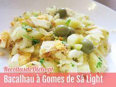 Receita de bacalhau à gomes de sá light #receita #dieta #light #emagrecer