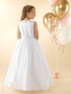 LWCD42 Communion Dress Holy Communion Dresses, First Holy Communion, Little White, Holi, Bodice, Tulle, Flower Girl Dresses, Sequins, Wedding Dresses