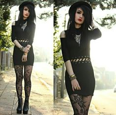 Grunge - I totally have those tights!  And I've been dying for a structured hat <3