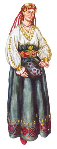 Woman's outfit. Chernolesskii culture.  (Cimmerian).