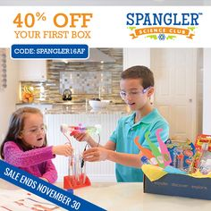 We made the Ultimate List of Homeschool Holiday Deals!  Save 40% Off Your First Box at Steve Spangler Science