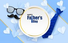 Day, Gift, Happy Fathers Day, Banners, Congratulations Card, Free Vector Art, Ties