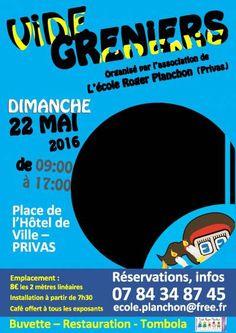affiche vide-greniers Association Ecole Roger Planchon
