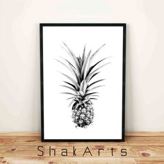 Pineapple Print Pineapple Nursery Home Pineapple by ShakArts