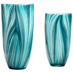 Cyan Design Small Turin Vase in Glass Material with Turquoise Blue finish - 5181