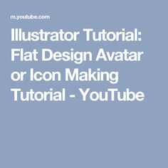 This Tutorial for lovers who wants to make flat icon or avatar from any photos. I will show you how can you make a Icon from a real photo. Illustrator Tutorials, Flat Design, Avatar, Illustration, Youtube, Illustrations, Youtubers, Youtube Movies, Apartment Design