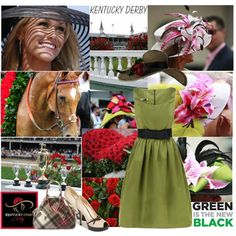 Kentucky Derby Style, created by elena-starling on Polyvore