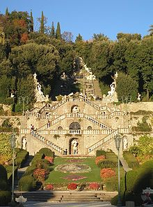 A typical Italian garden at Villa Garzoni, near Pistoia
