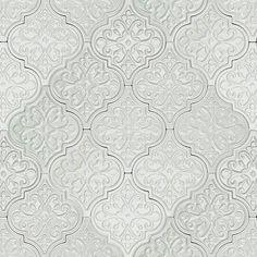 mosaic arabesque tile grey gray - Google Search