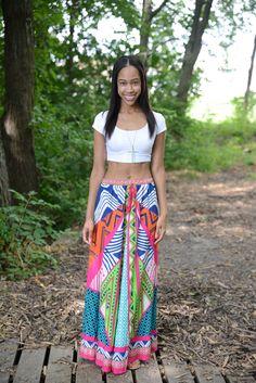 Summer Bliss in this vibrant maxi skirt from @marshalls #fabfound #marshalls