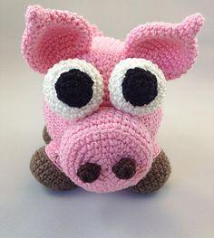 Free Crochet Pattern from Jo's Crocheteria. Sven the Amigurumi Pig  #freecrochet…