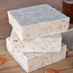 Can't believe I didn't invent this: Honey Almond Chamomile Goat's Milk Melt And Pour Soap Recipe