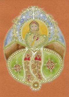 Kisboldogasszony - Fecskehajtó Kisasszony szeptember 8. Folk Art, Mandala, Painting, Deities, Art, Traditional, Folk, Slavic