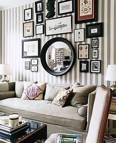 Cute stripes + black frame collage