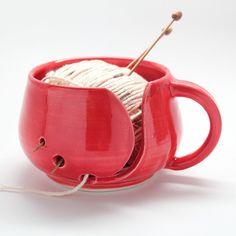 Yarn mug - perfect for the crocheting or knitting mom