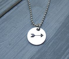 925 Sterling Silver Arrow Necklace Hand Stamped Arrow Jewelry Archery Necklace Archery Jewelry Graduation Gift - pinned by pin4etsy.com