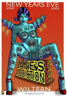 2002 Jane's Addiction Silkscreen Concert Poster by Emek