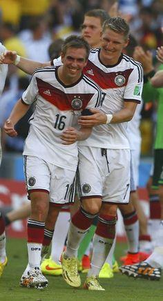 Die Mannschaft captains: Philipp Lahm & Bastian Schweinsteiger :)