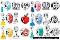 Os charms das Princesas Disney para Pandora | Just Lia