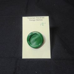 Vintage 1970s Large Green Shank Button  One & by VictorianWardrobe, $2.00