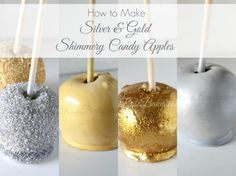 How to Make Silver & Gold Shimmery Candy Apples