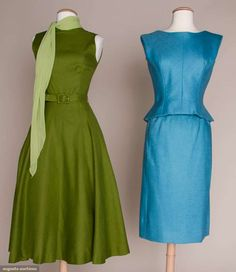 Two American Designer Linen Dresses, 1955-1965, Augusta Auctions