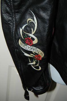 Harley Davidson Womens Black Leather Jacket