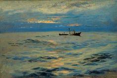 Barco sobre el mar