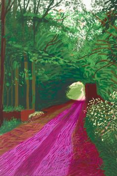 The last 10 years of David Hockney: from oil and canvas to iPad drawings – in pictures David Hockney Ipad, David Hockney Art, David Hockney Paintings, Ipad Art, Ipad Kunst, Landscape Art, Landscape Paintings, Pop Art Movement, Arte Pop