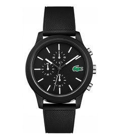 Lacoste Chronograph Rubber Strap Watch - Black N/A Fossil, Herren Chronograph, Lacoste Men, Dillards, Bracelets, Watches For Men, Quartz, Metal, Accessories