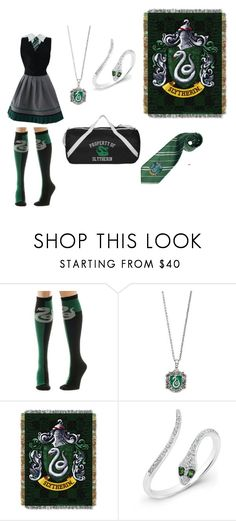 """""""Slytherin"""" by sarahannejohnson on Polyvore featuring Warner Bros."""