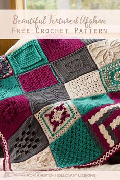 Beautiful Crochet Afghan Pattern hobbys This unique afghan is made of many beau .Beautiful Crochet Afghan Pattern hobbys This unique afghan is made of many beautiful squares. Crochet a fun, colorful blanket with these free Crochet Afghans, Motifs Afghans, Crochet Squares Afghan, Easy Crochet Blanket, Granny Square Crochet Pattern, Afghan Crochet Patterns, Knitting Patterns, Crochet Blankets, Ripple Afghan