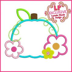 See It All - Bright Flowers Pumpkin Applique 4x4 5x7 6x10 7x11 SVG - Welcome to Lynnie Pinnie.com! Instant download and free applique machine embroidery designs in PES, HUS, JEF, DST, EXP, VIP, XXX AND ART formats.