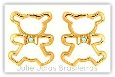 Brincos em ouro 750/18k e topázio blue sky (750/18k gold earrings with blue sky topaz)