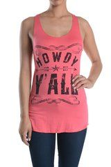 Howdy Y'all Graphic Tank Top