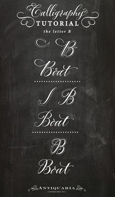 "Calligraphy Tutorial | the Capital Letter ""B"""