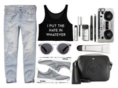 """tumblr girls"" by genesislogan ❤ liked on Polyvore featuring Abercrombie & Fitch, NIKE, Illesteva, Zero Gravity, Bobbi Brown Cosmetics, Anya Hindmarch and MAC Cosmetics"