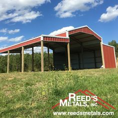 Our pole barns are custom built to fit your needs- whether you need roof only, partially enclosed, or fully enclosed. Delivered in 10 days! Pole Barn House Plans, Pole Barn Homes, Garage Plans, Metal Building Kits, Metal Building Homes, Building A House, Shop Buildings, Metal Buildings, Barn Storage