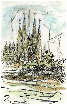 Europe Travel Sketchbook | Nicholas DeBruyne