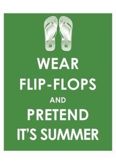 Wear Flip Flops and Pretend it's Summer. Art.com